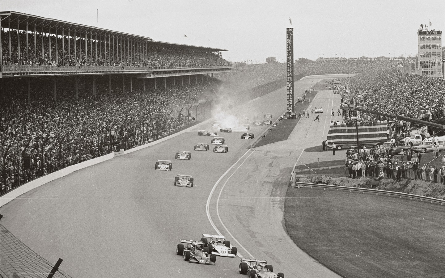 Salt Walther's crash at the 1973 Indianapolis 500