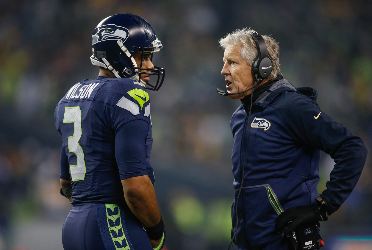 Seattle Seahawks Russell Wilson Pete Carroll problems