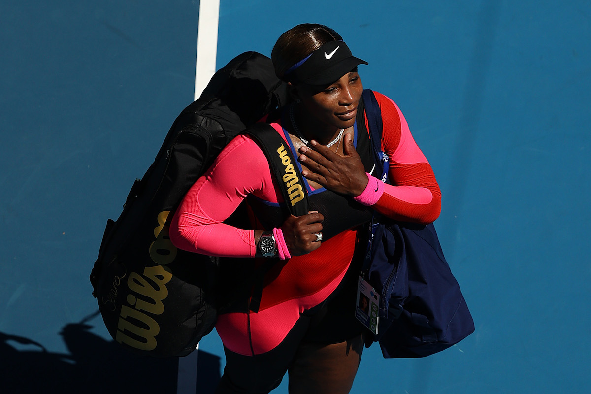 Tennis player Serena Williams appreciates the fans after her tennis match