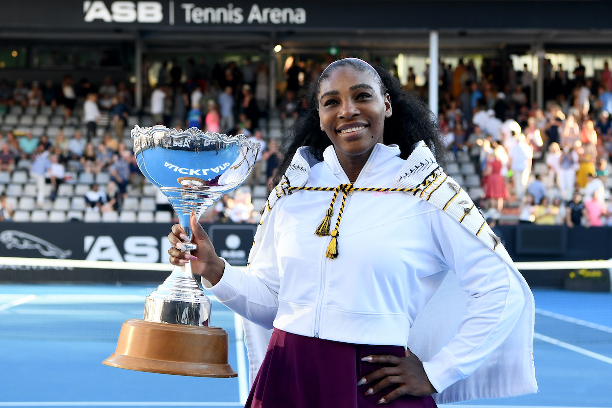 Tennis icon Serena Williams celebrating another tournament victory