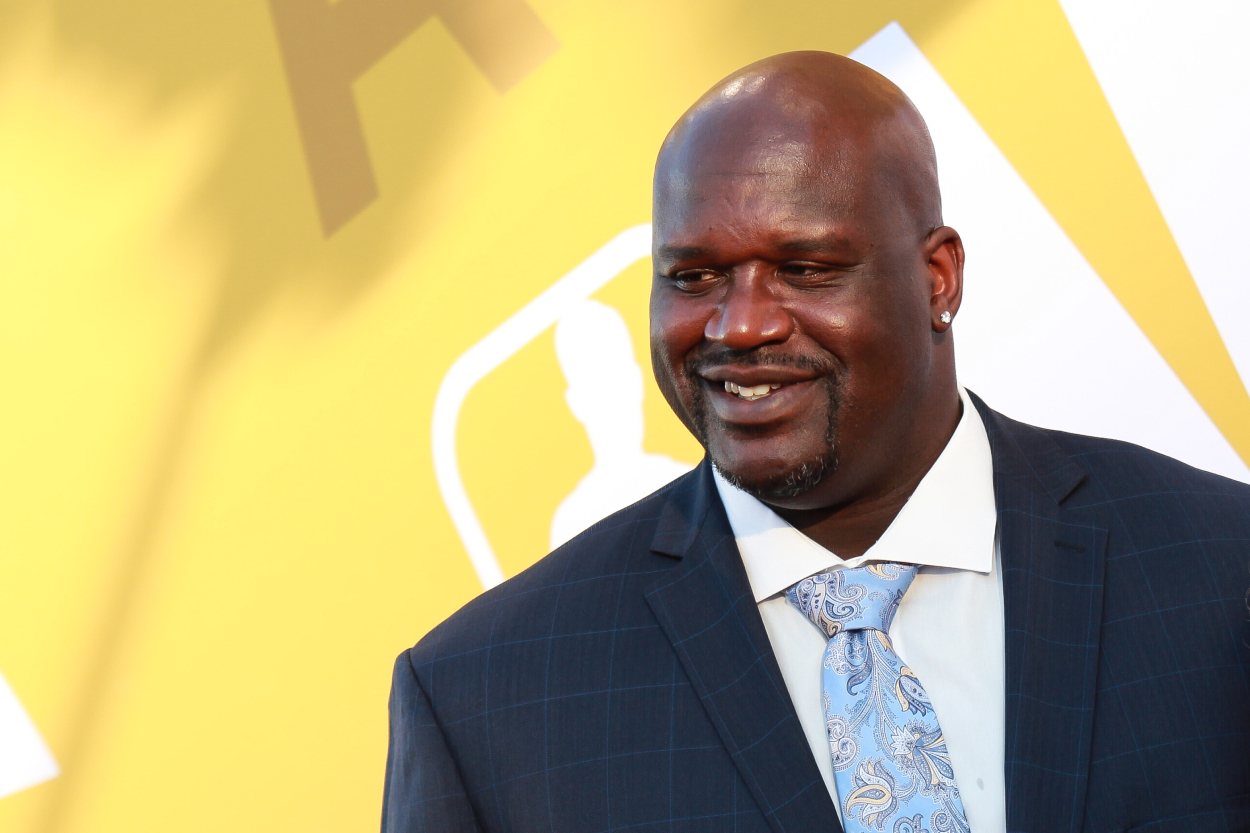 Former NBA star Shaquille O'Neal at the 2017 NBA Awards.