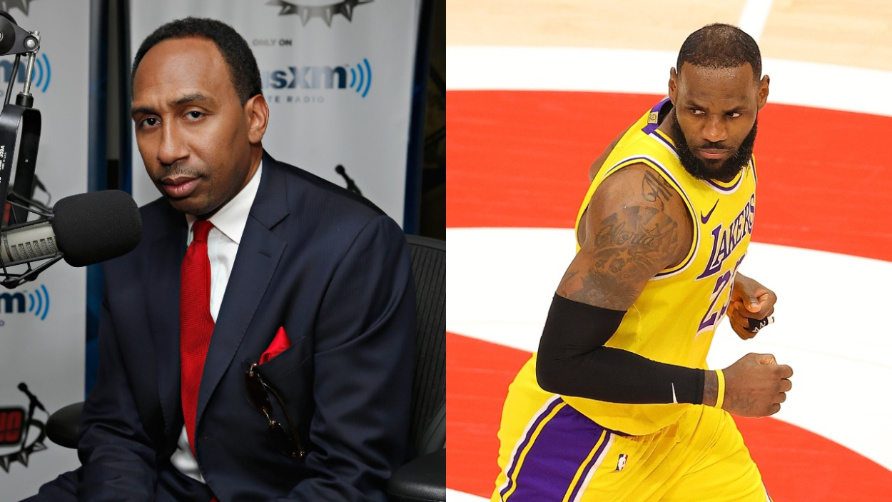 LeBron James' incident with courtside Karen lit social media on fire. ESPN's Stephen A. Smith has since reacted to the incident.