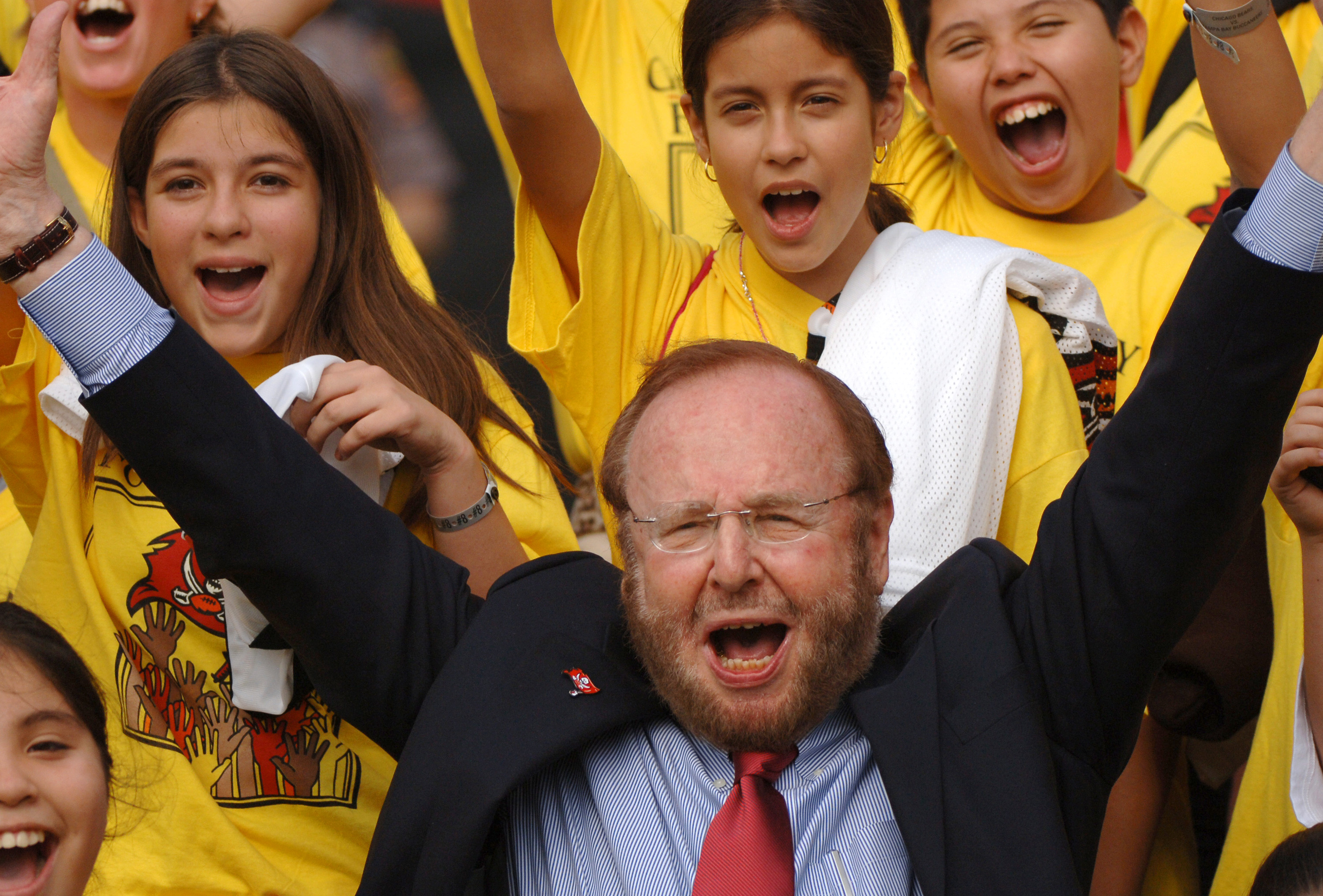 Tampa Bay Buccaneers owner Malcolm Glazer before play in 2005