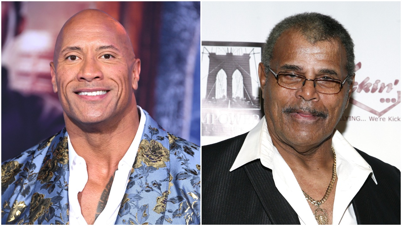 'The Rock' Dwayne Johnson and his father, WWE Hall of Famer Rocky Johnson