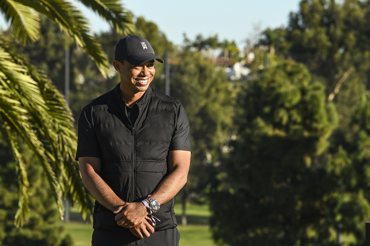 82-time PGA Tour winner Tiger Woods at the 2021 Genesis Invitational
