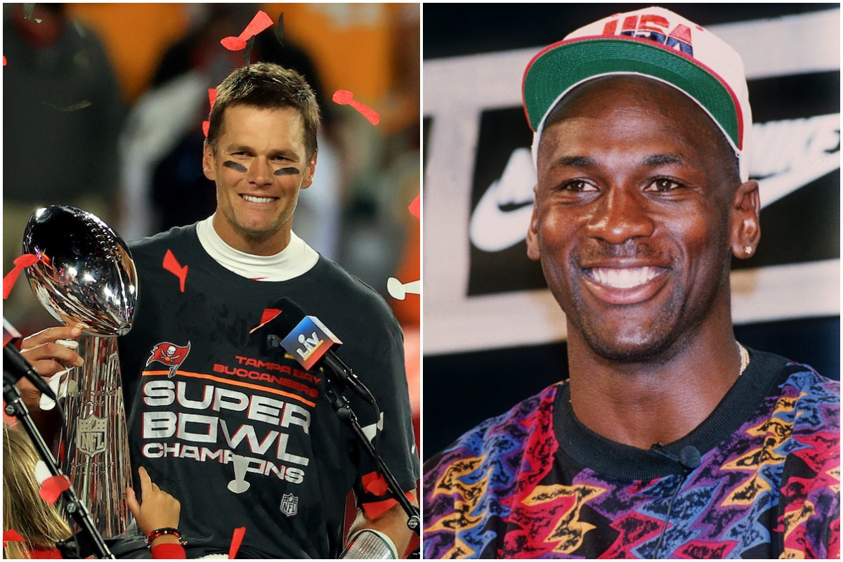 Tom Brady and Michael Jordan are two of the greatest athletes to ever live. They are also the best at cover-ups too.
