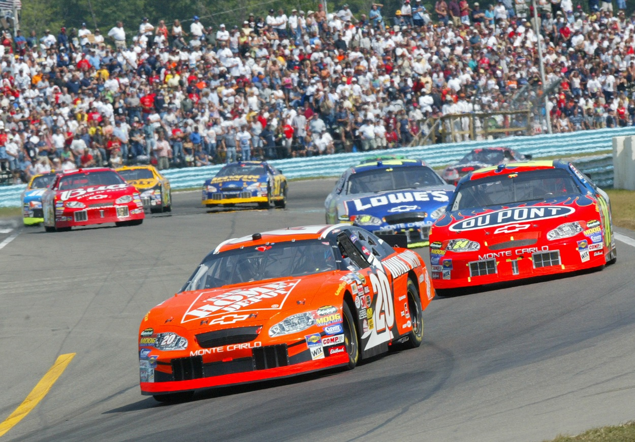 Tony Stewart leading the pack at Watkins Glen