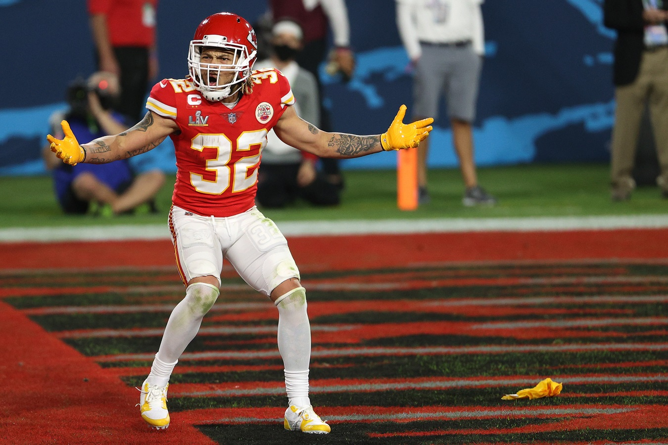 Kansas City Chiefs defensive back Tyrann Mathieu is not happy