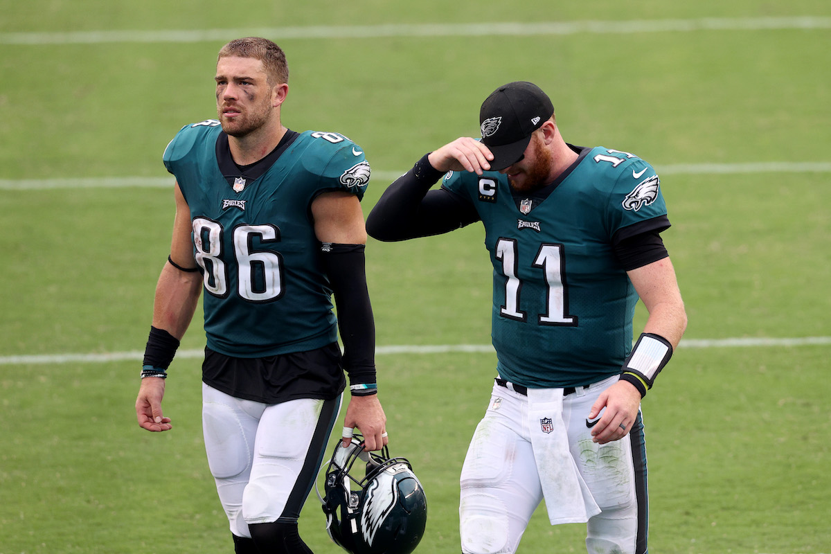 Carson Wentz's future with the Philadelphia Eagles is all but uncertain. His career in Philly may truly be over if the team gets rid of his favorite target.