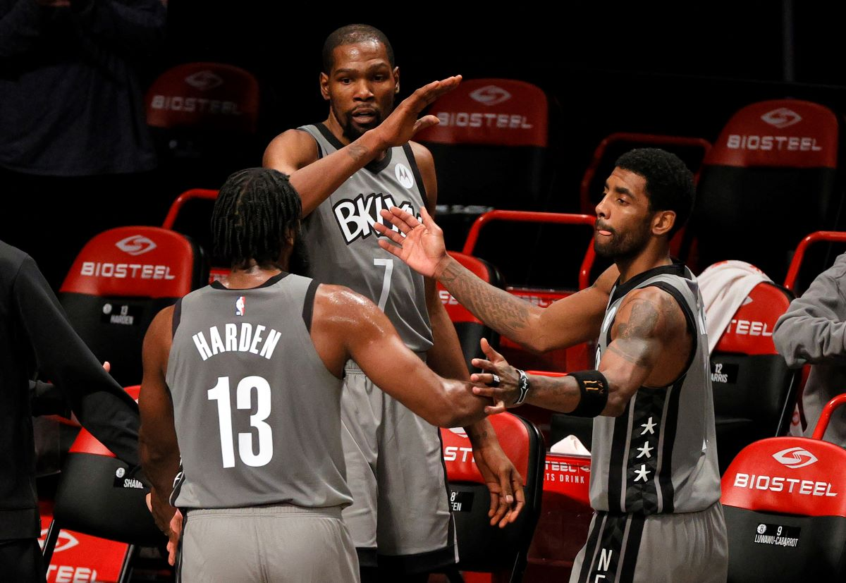 Nets, Kevin Durant, James Harden, Kyrie Irving