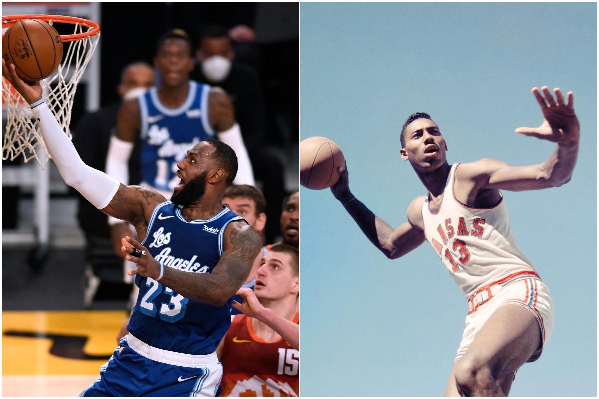 LeBron James, Wilt Chamberlain, Lakers