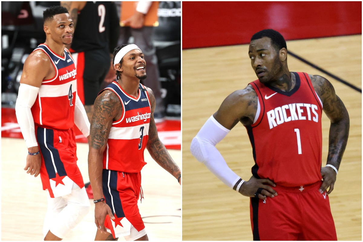 Bradley Beal, John Wall, Russell Westbrook, Wizards, Rockets, NBA