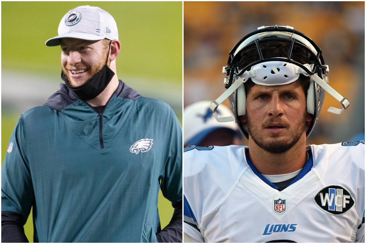 Carson Wentz, Torrey Smith, Domonique Foxworth, Dan Orlovsky, NFL