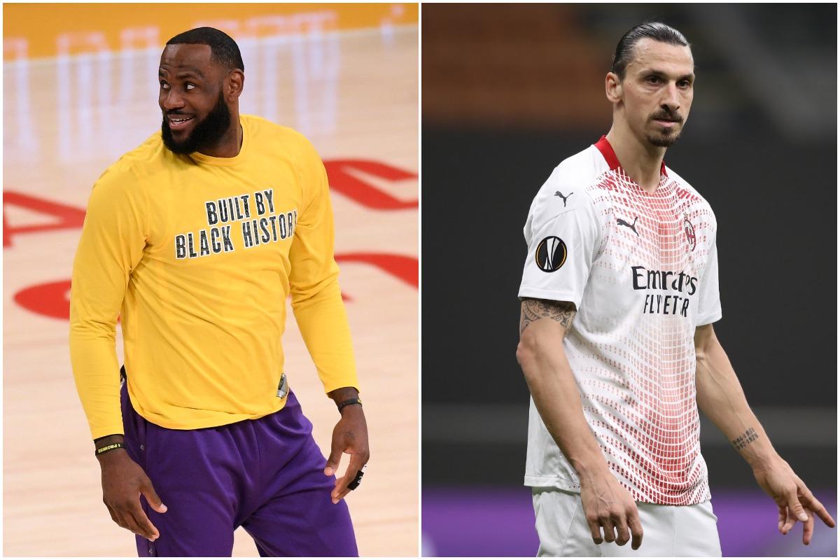 LeBron James, Lakers, NBA, Zlatan Ibrahimovic