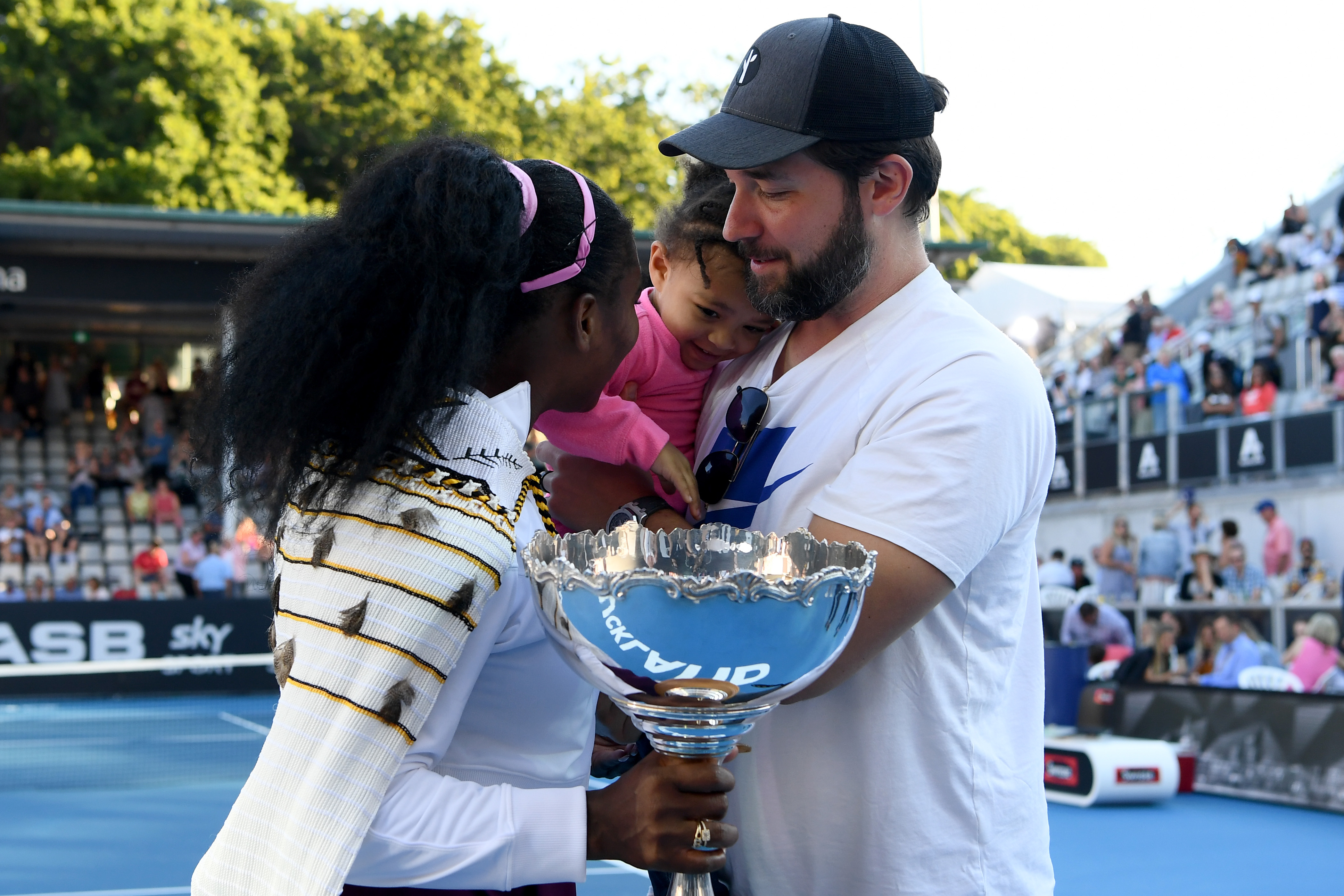 Alexis Olympia, daughter of Serena Williams and husband Alexis Ohanian congratulate Serena Williams in 2020