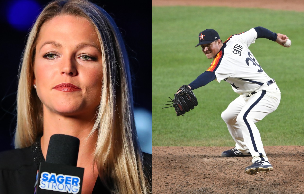 College basketball reporter Allie LaForce (L) and Houston Astros pitcher Joe Smith are married.