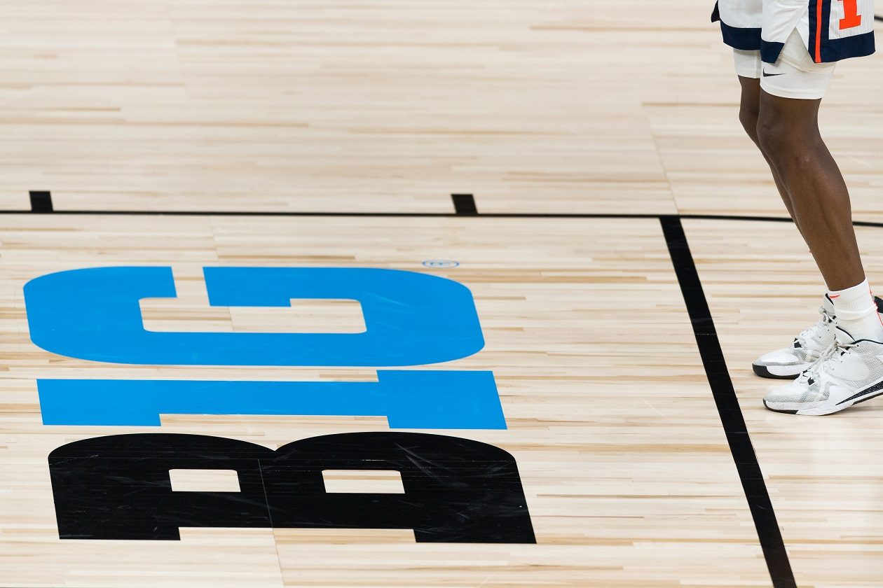 Big Ten Basketball logo on court