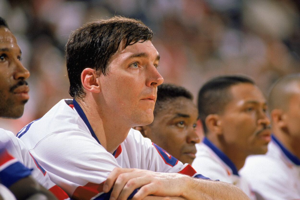 Detroit Pistons legend Bill Laimbeer in 1989.