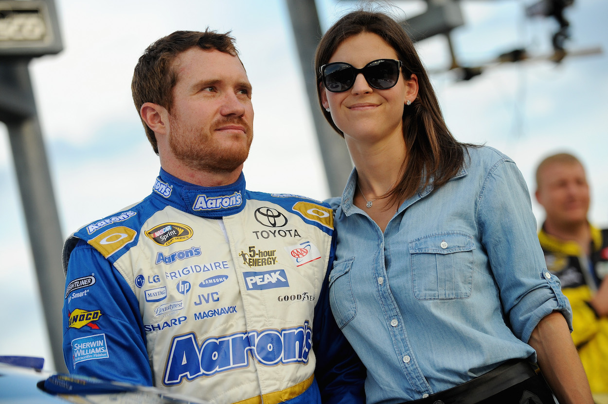 Brian Vickers with wife Sarah Kellen