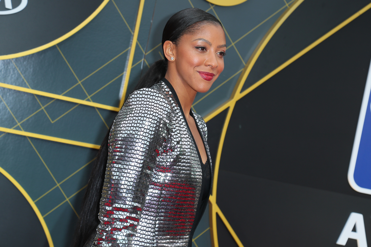 Basketball superstar Candace Parker, whose former husband is Shelden Williams, at the NBA awards in 2019.
