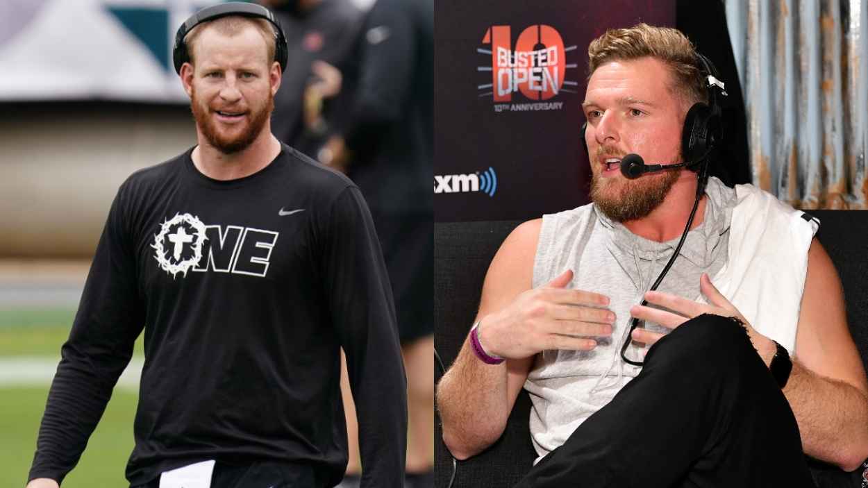 Carson Wentz Finally Confronts His Hater Pat McAfee in a Face-to-Face Meeting