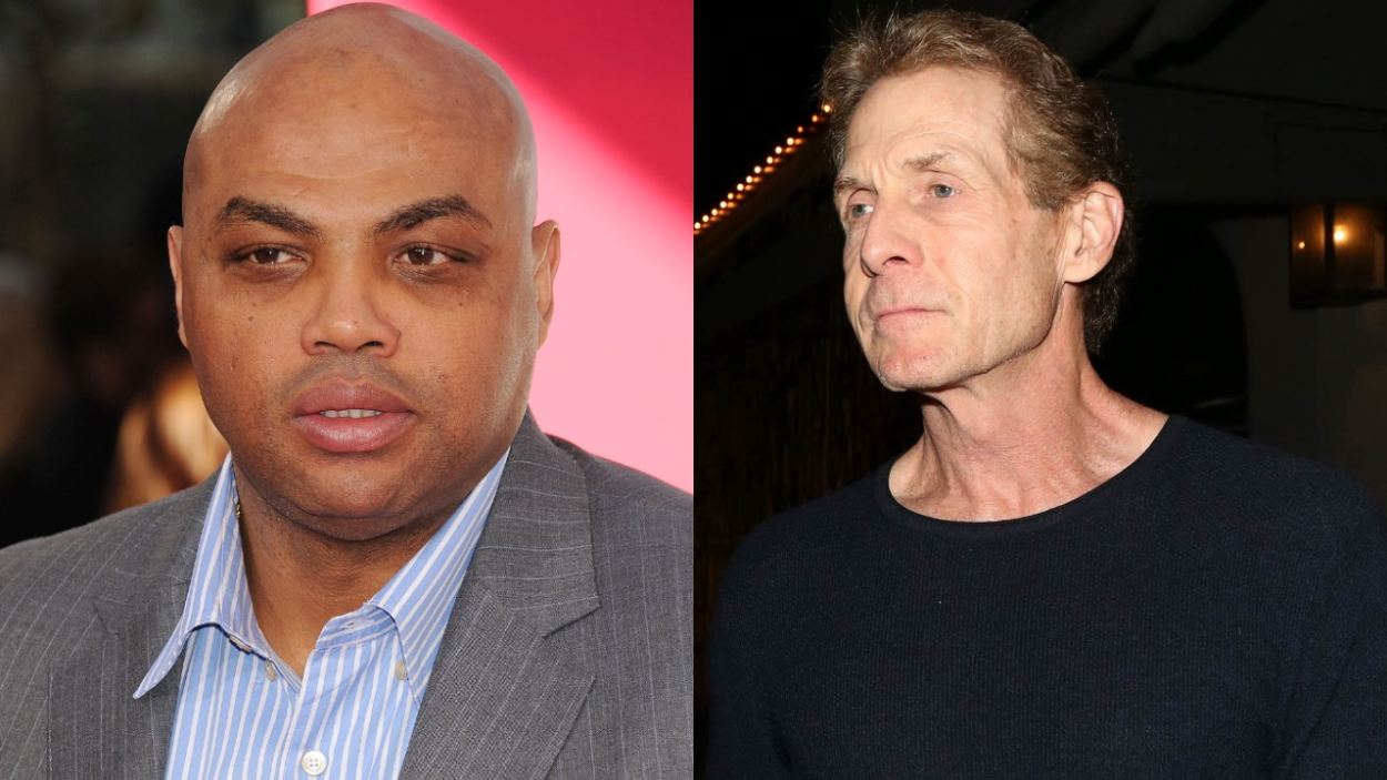 NBA legend Charles Barkley and FOX commentator Skip Bayless.