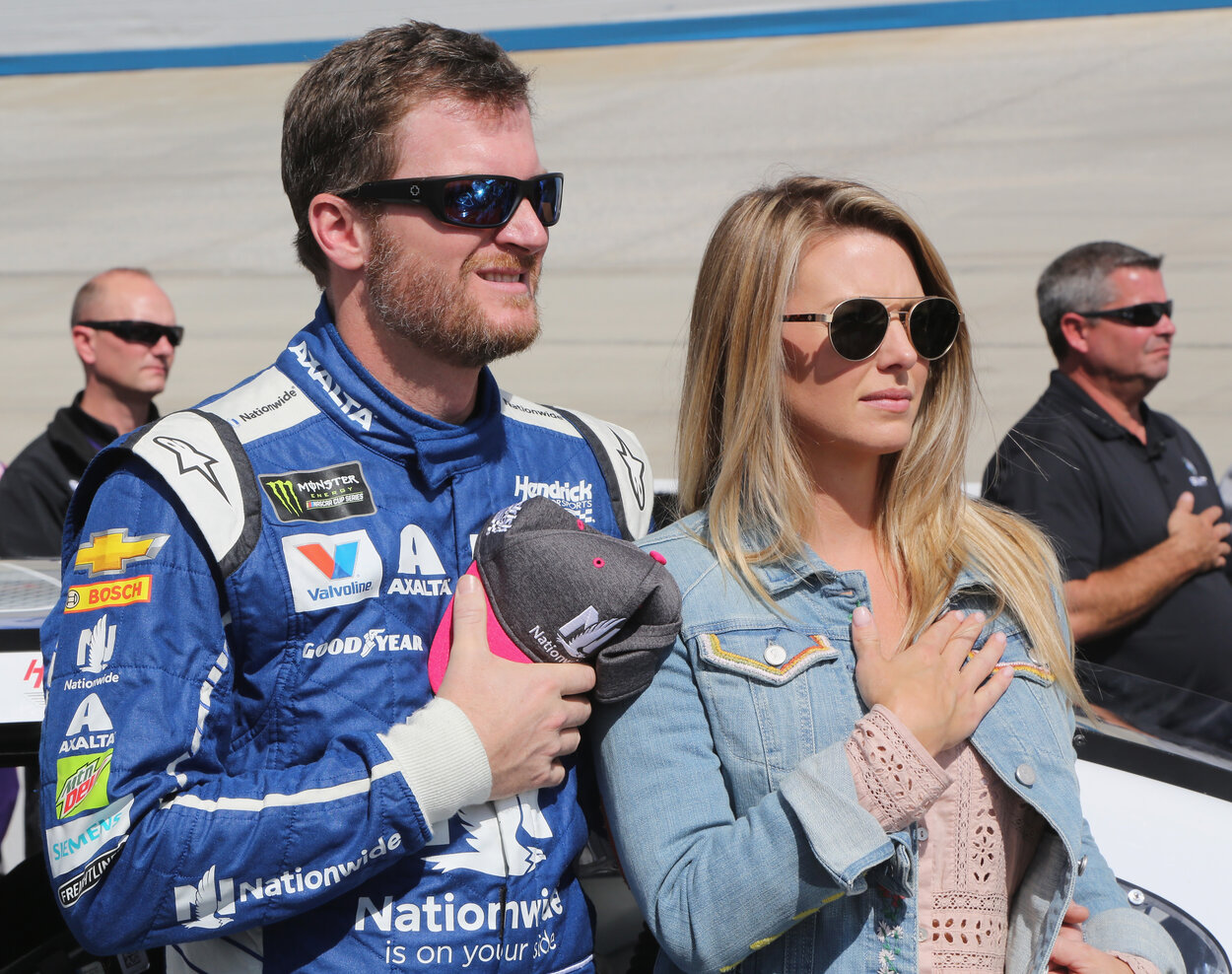 Dale Earnhardt Jr. and his wife, Amy, in 2017.