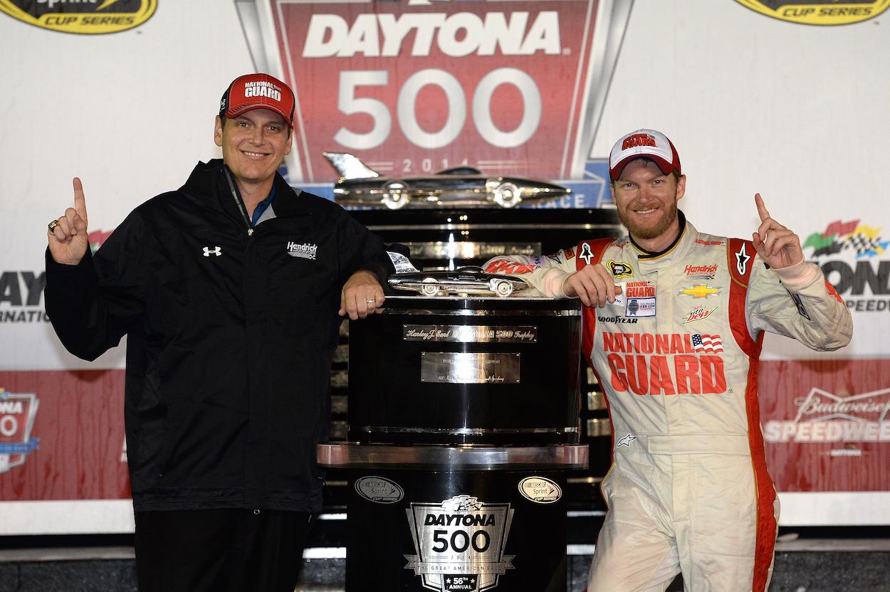Dale Earnhardt Jr. and Steve Letarte win Daytona 500