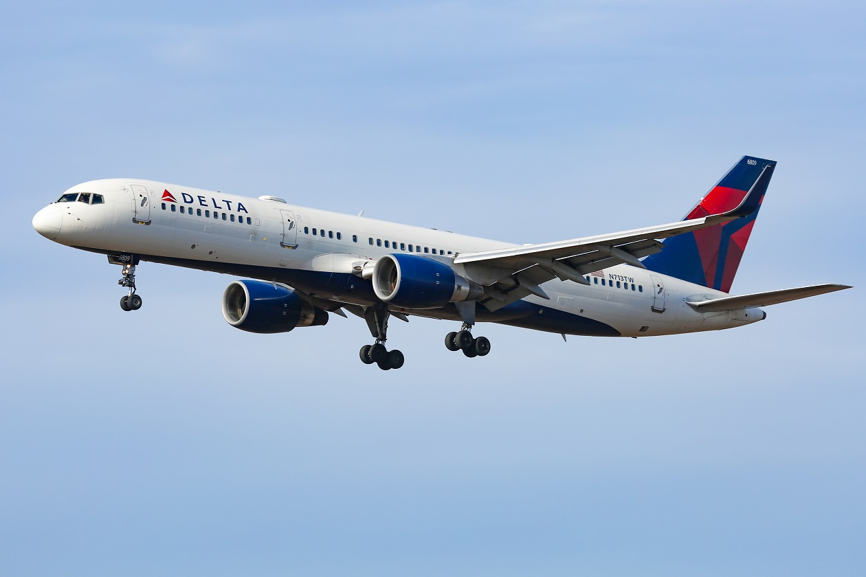 A Boeing 757 in Delta Air Lines livery
