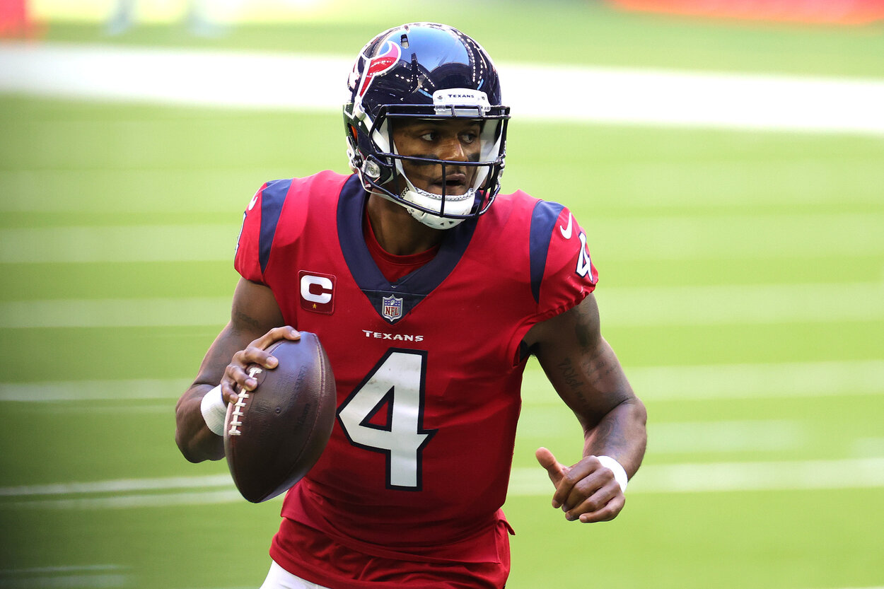 Houston Texans quarterback Deshaun Watson during a 2020 game.
