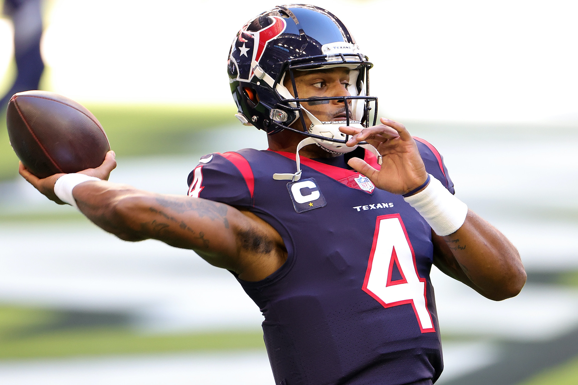 Houston Texans quarterback Deshaun Watson in NFL action.