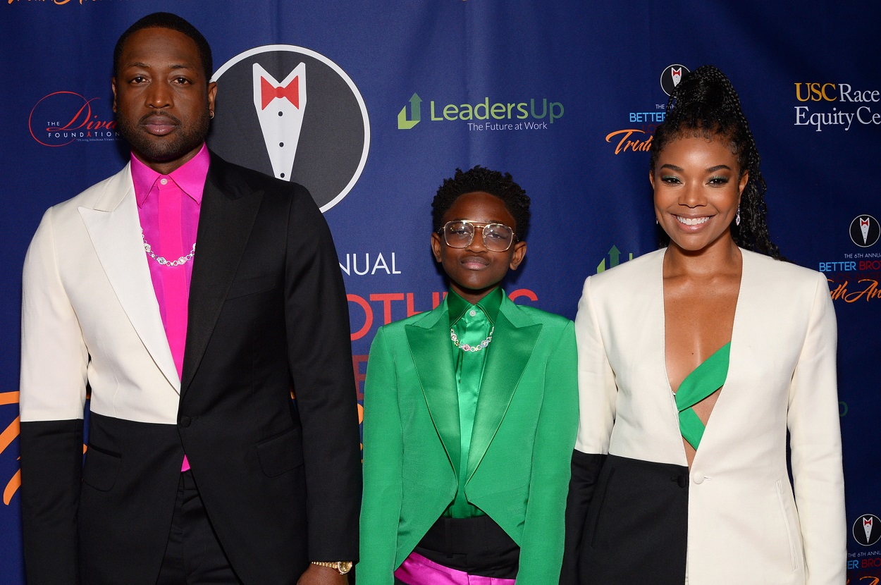 Dwyane Wade, Zaya Wade, and Gabrielle Union at the Better Brothers Los Angeles 2021 Truth Awards