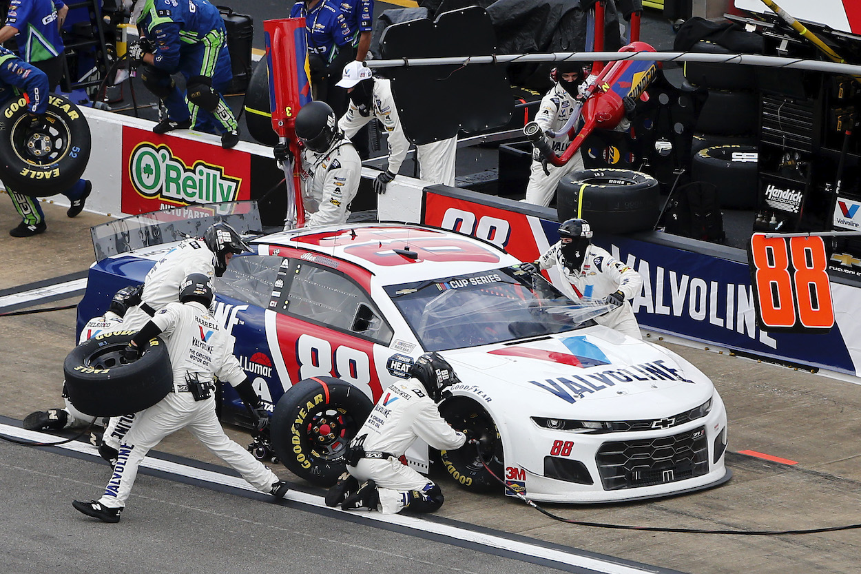 Pit crew of Alex Bowman who drives for Hendrick Motorsports