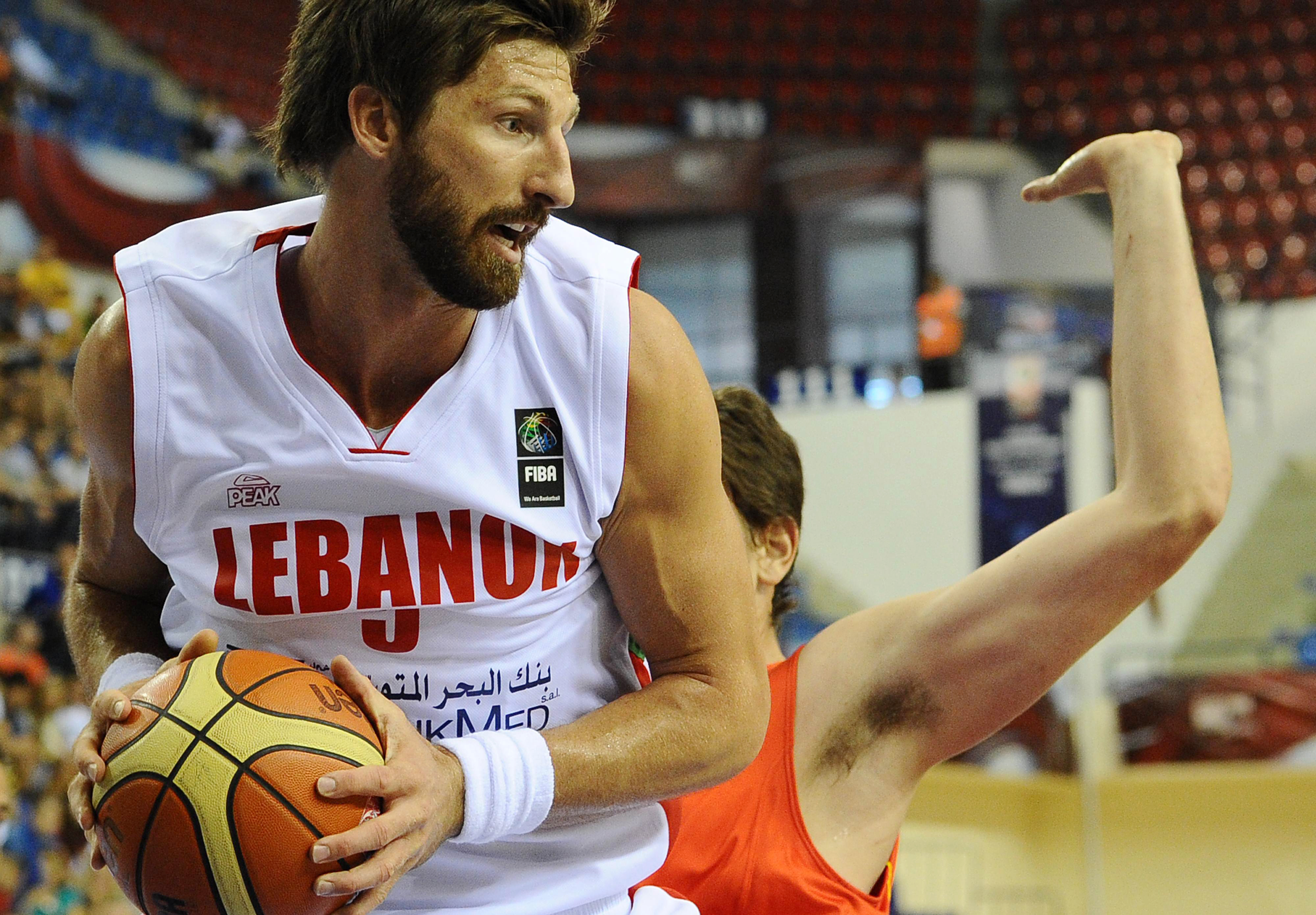 Former Phoenix Suns big man Jackson Vroman while playing for Lebanon in 2010.