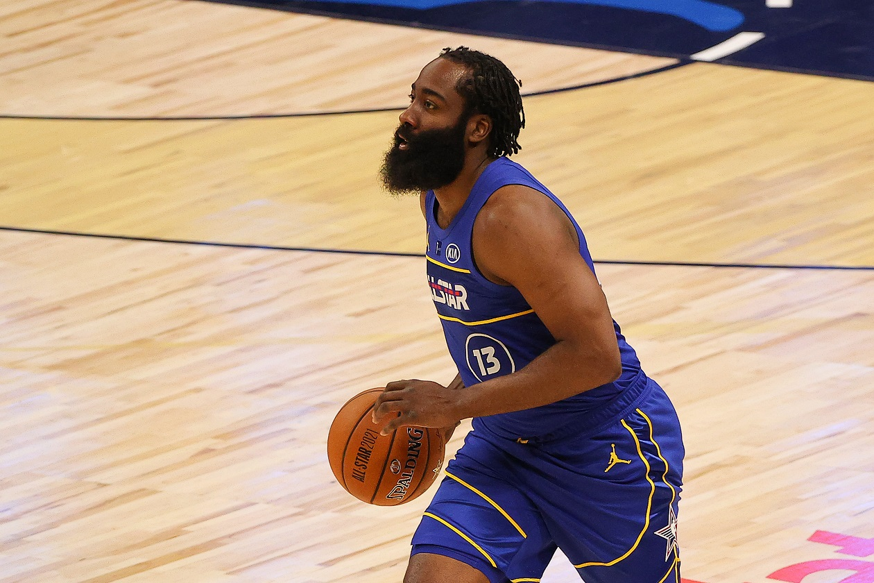James Harden at the 2021 NBA All-Star Game