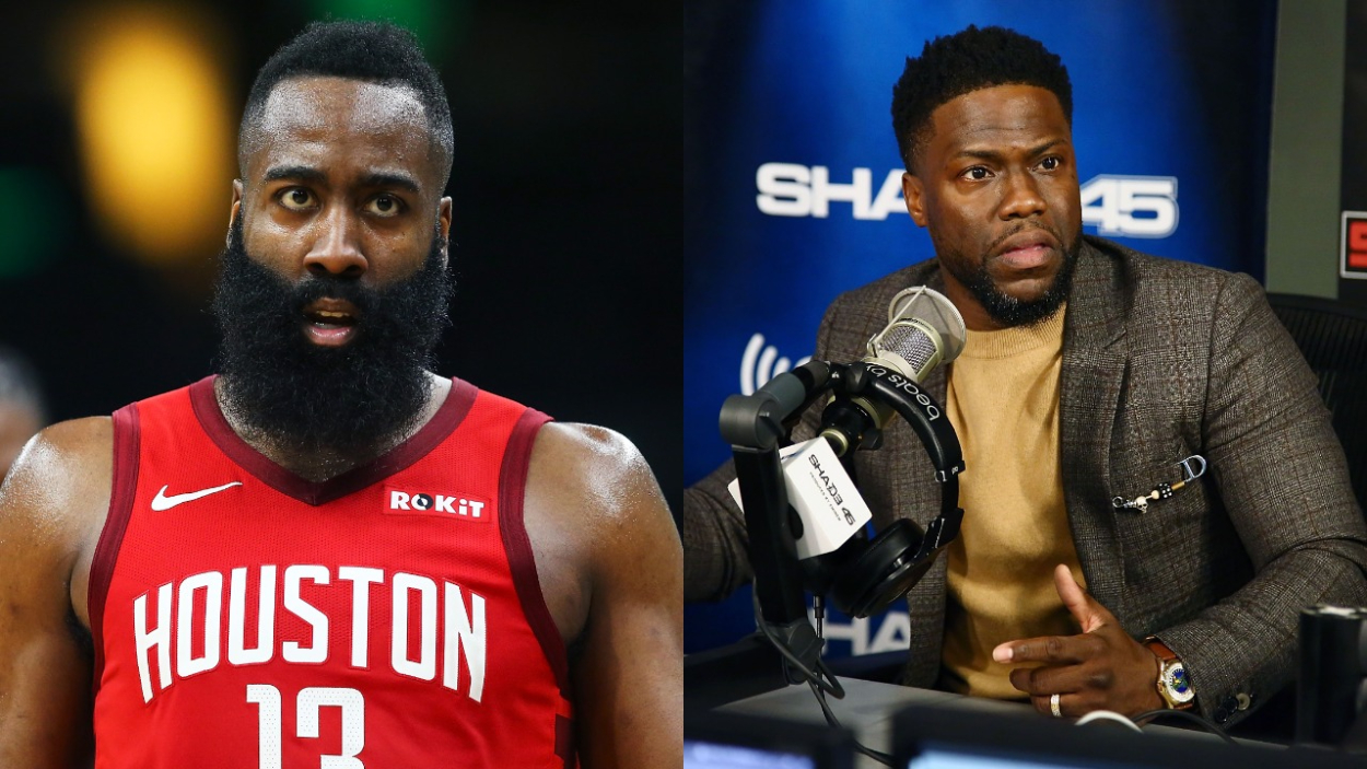 James Harden Once Decided to Drop 50 After Comedian Kevin Hart Pissed Him off Mid-Game, Told Him His 'Beard Stinks'