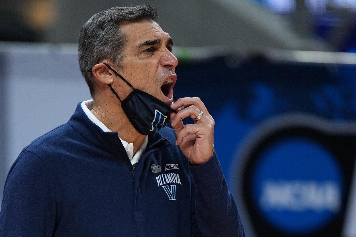 Villanova head men's basketball coach Jay Wright during the 2021 NCAA Tournament.