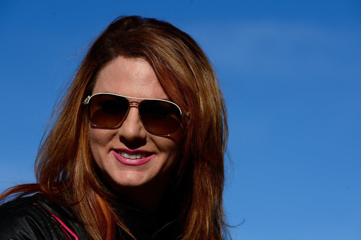 NASCAR racer Jennifer Jo Cobb in 2017.