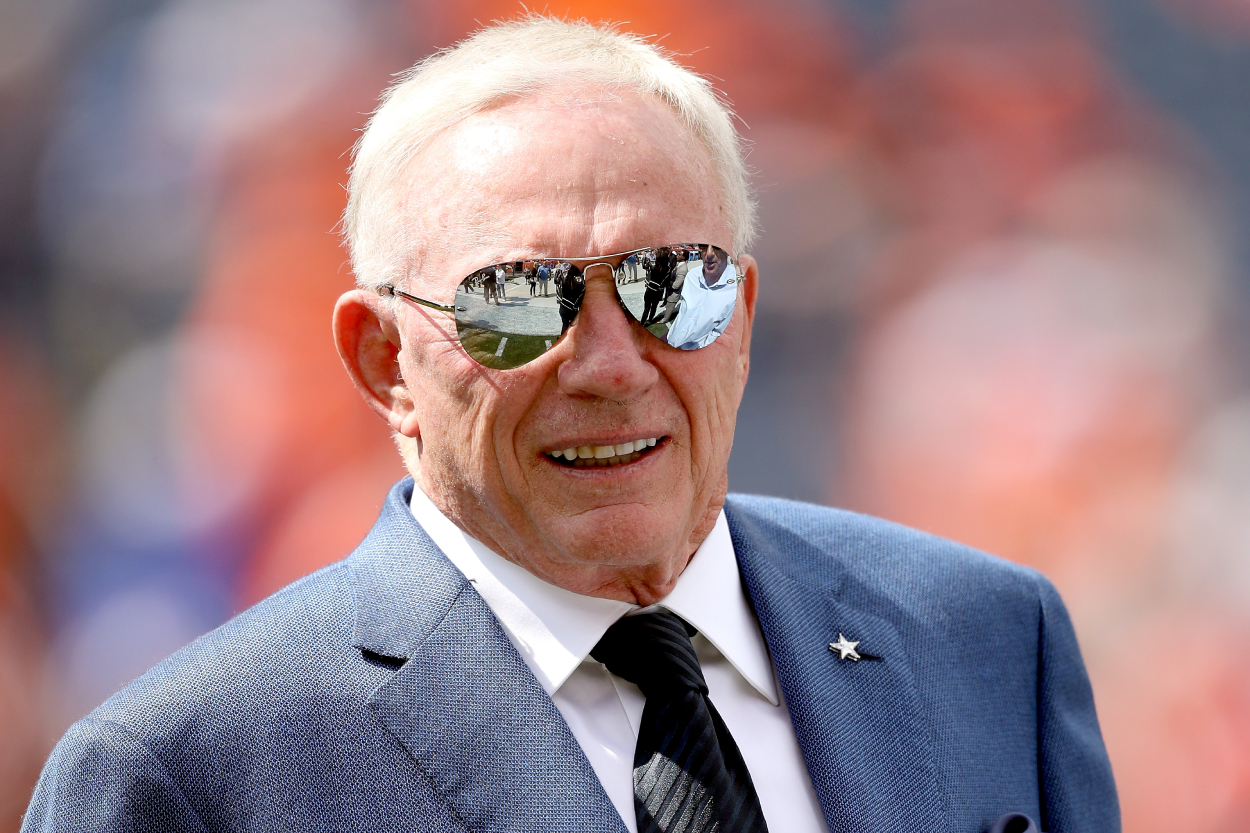Cowboys owner Jerry Jones before a game against the Denver Broncos.