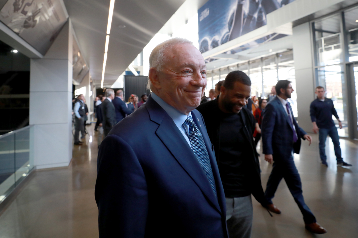 Cowboys owner Jerry Jones after introducing the team's new coach in 2020.