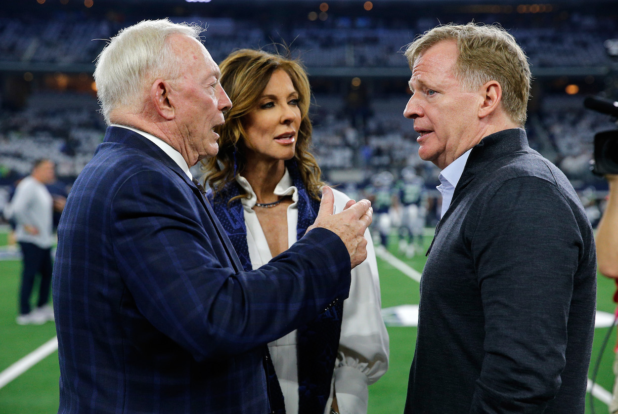 Jerry Jones and Roger Goodell