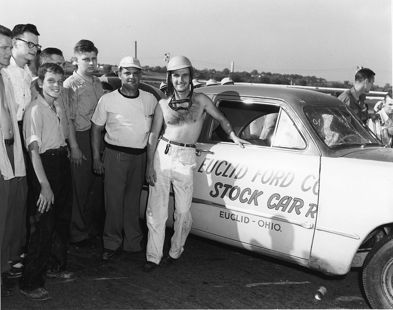 Jimmy Florian made NASCAR history in 1950 when he won a race at Daytona a shirt on his chest, which prompted a fitting nickname.