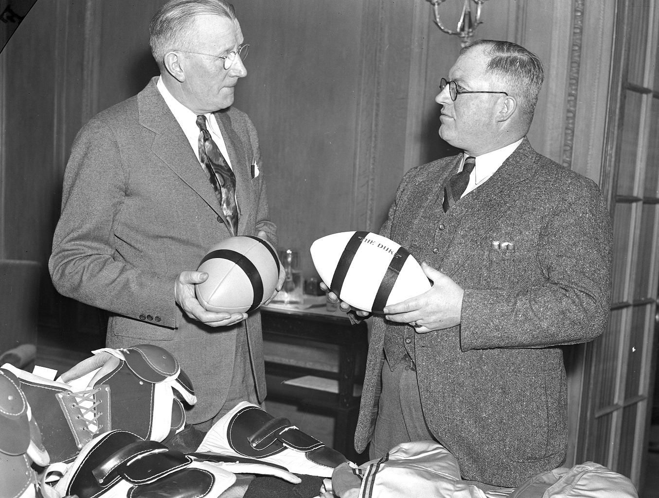 Jock Sutherland, pictured on left