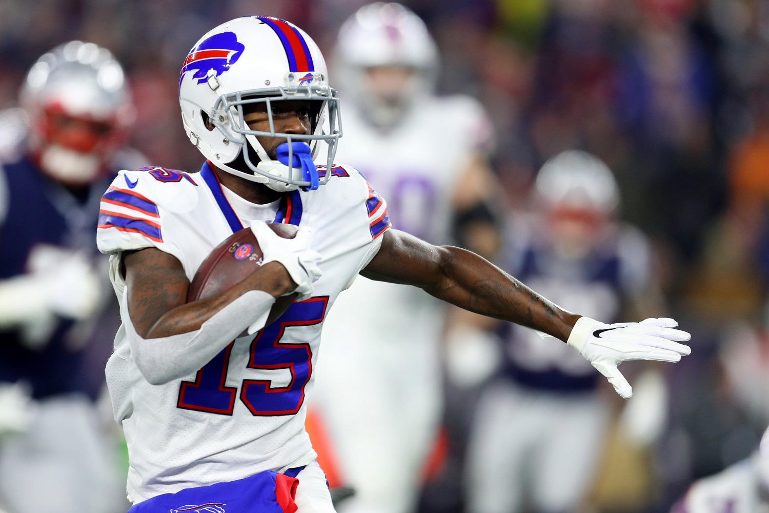 John Brown played just nine games for the 2020 Buffalo Bills. | Maddie Meyer/Getty Images
