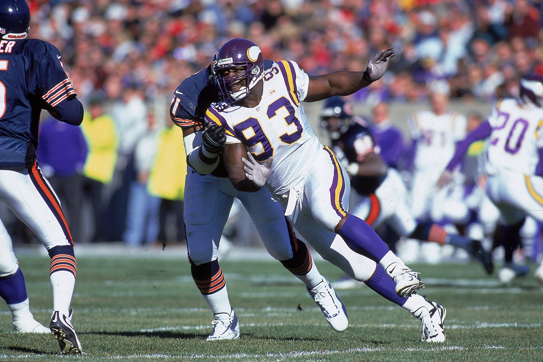 Minnesota Vikings defensive tackle John Randle was first-team All-Pro six consecutive seasons.
