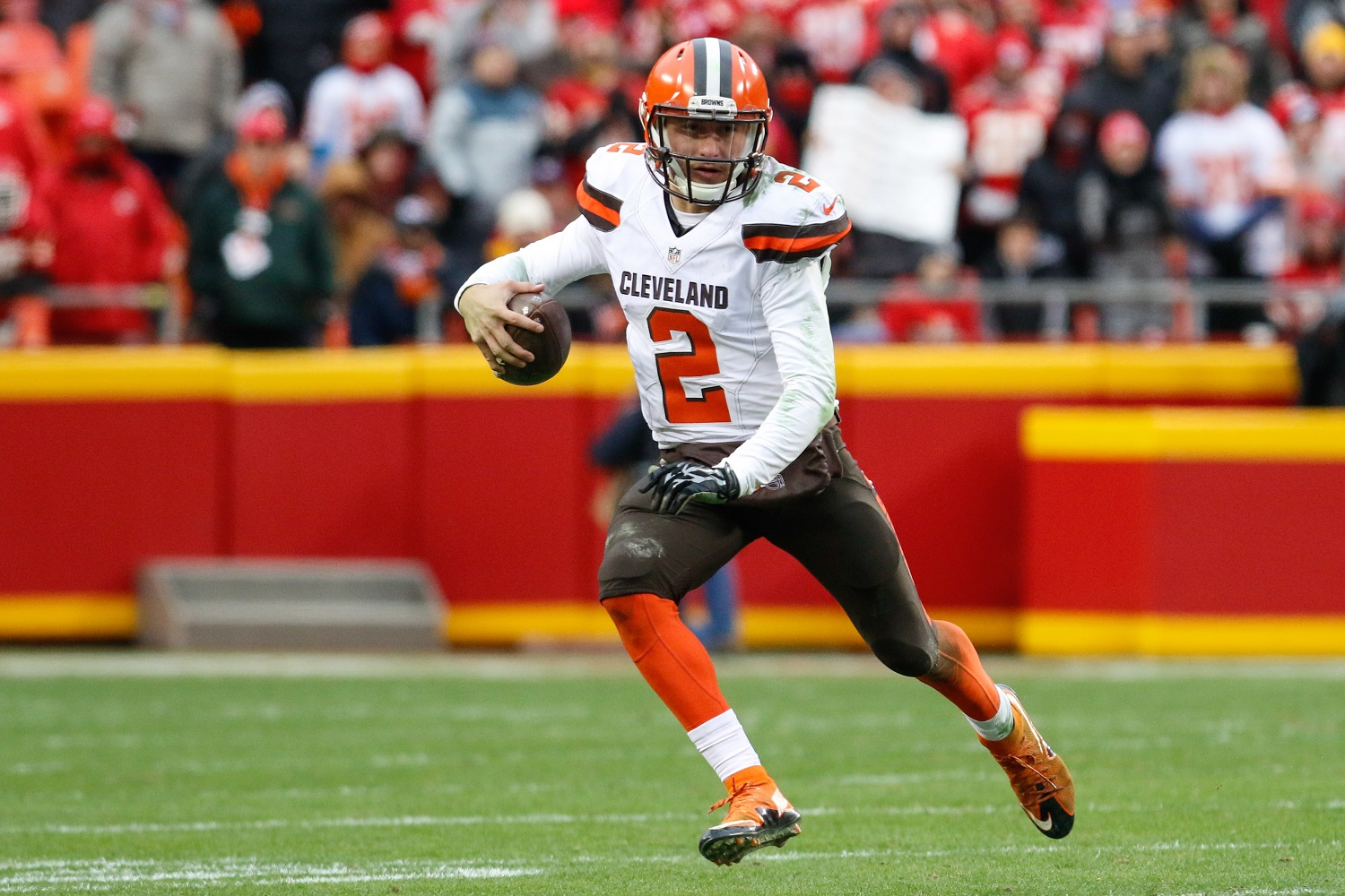 Johnny Manziel last two seasons in the NFL with the Cleveland Browns