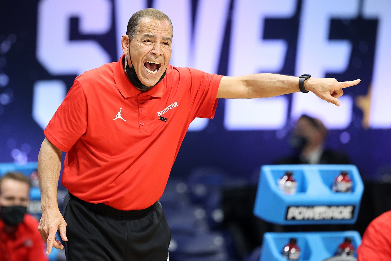 Houston Cougars head coach Kelvin Sampson during the Sweet 16 of the 2021 NCAA Tournament