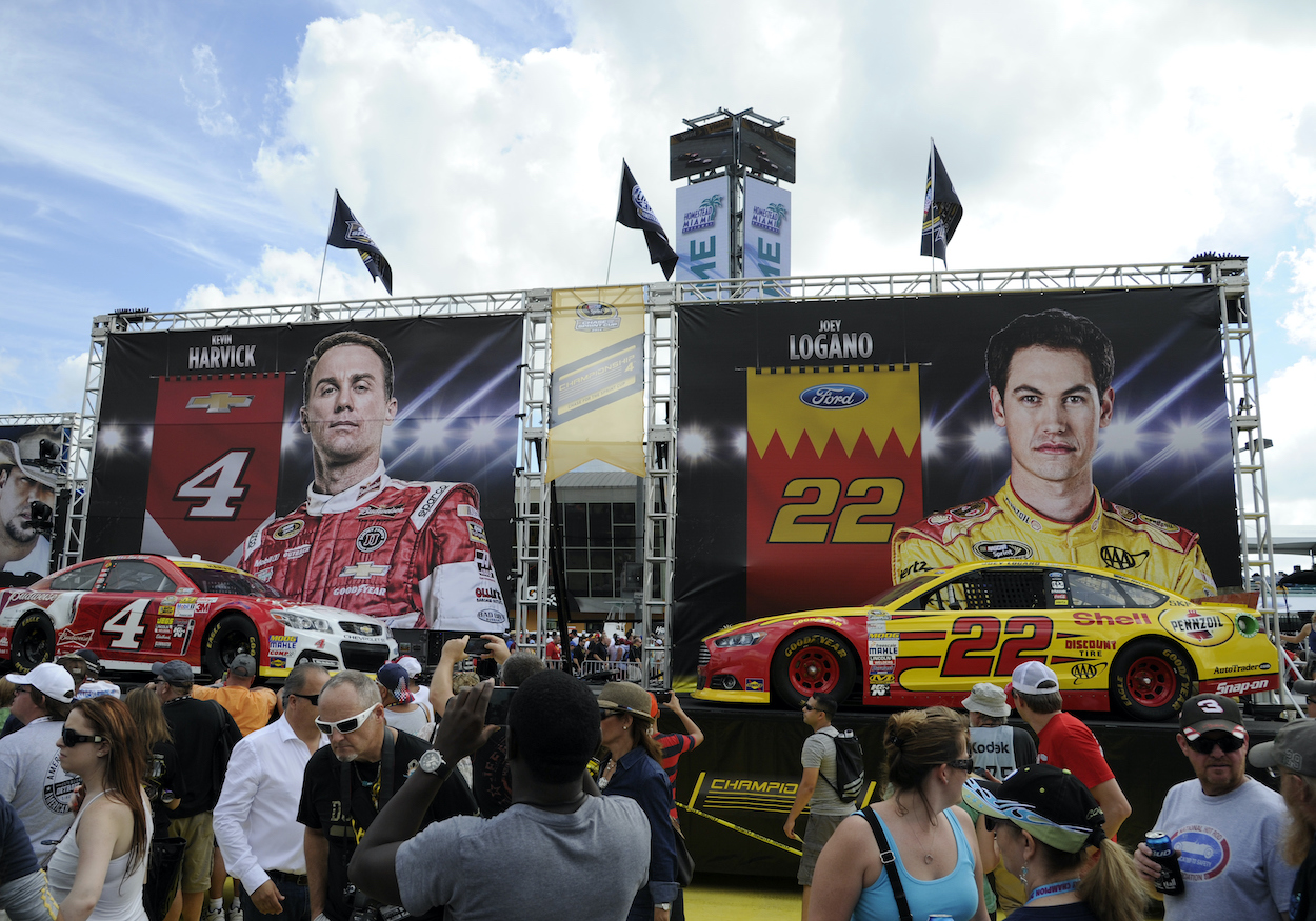 Joey Logano and Kevin Harvick used to have one of NASCAR's biggest rivalries, but Logano took the beef too far by mentioning Harvick's wife.