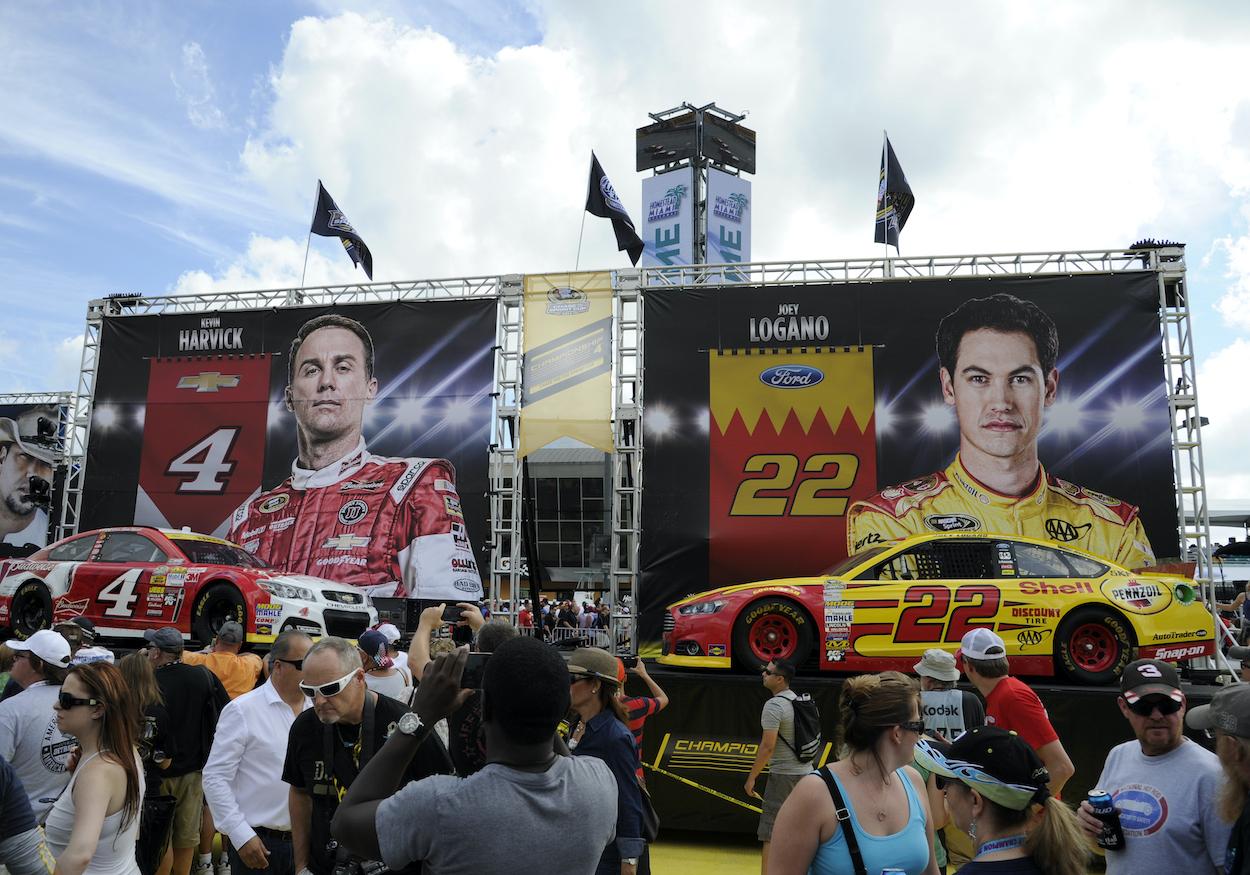 NASCAR drivers Kevin Harvick and Joey Logano