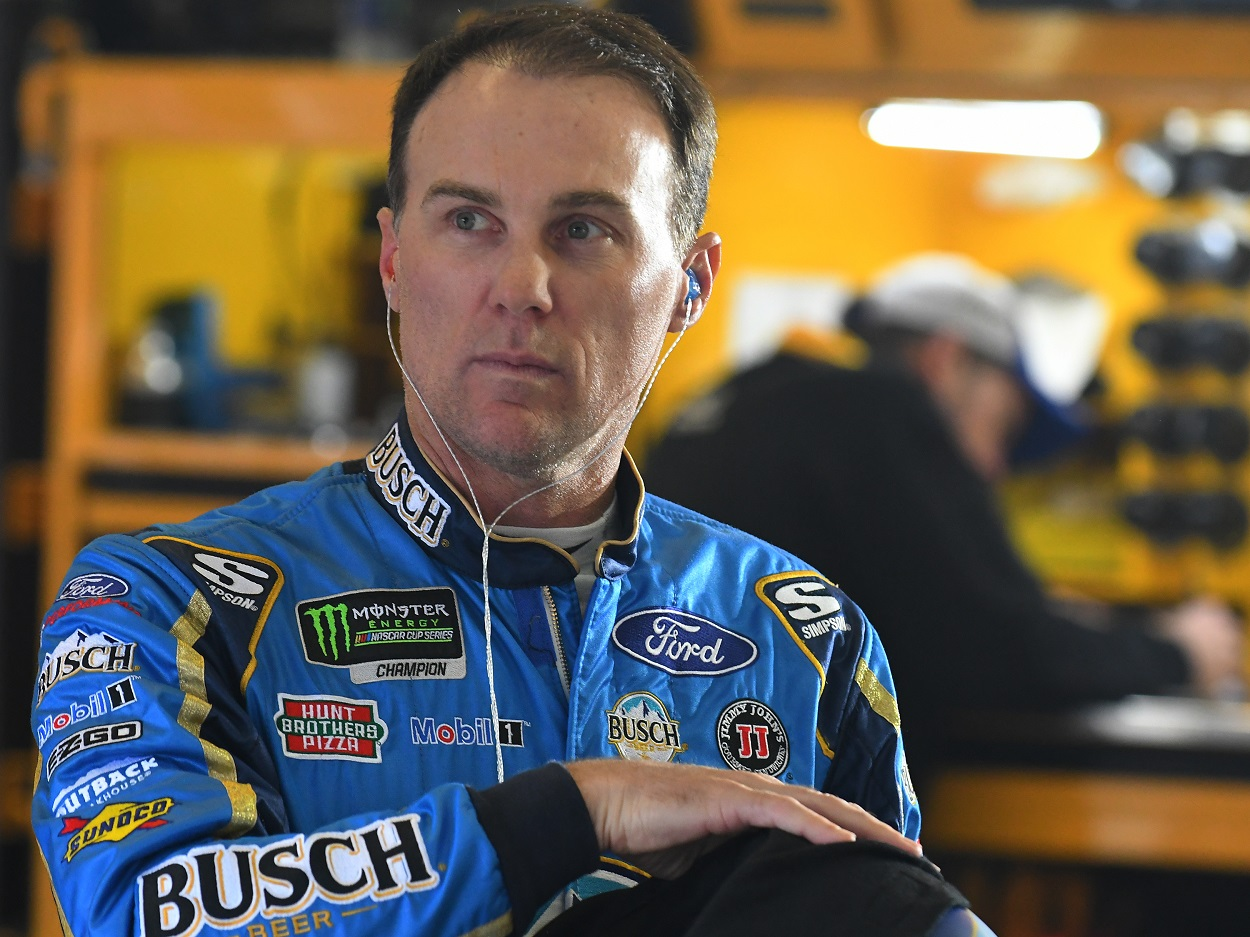 Kevin Harvick, who competed alongside Dale Earnhardt Jr., prepares for a NASCAR Cup series race.